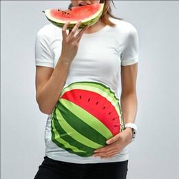 2019 t-shirt imprimé enceinte 2019 été maternité tops 3D pastèque blanche imprimée à manches courtes Vêtements Enceinte Coton imprimé basket-ball t-shirt promotion t-shirt imprimé enceinte