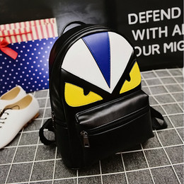 bf89aa4d40 unique bag for men Coupons - Fashion Brand Designer Unique Cute Bird Face  Backpack for young