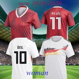 Deutschland einheitliche fußball online-2019 Frauen WM Trikots 2020 Deutschland Heimtrikot Deutschland Auswärts weiblich POPP DÄBRITZ RALL MULLER Mädchen Fußball Trikots