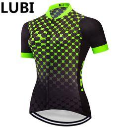kleidung mtb frau Rabatt Lubi 2019 Frauen Italienische Elastische Am Arm Pro Radtrikot Sommer Kurze Ärmel MTB Fahrrad Sport Kleidung Kleidung