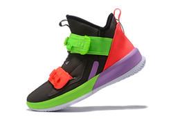 2019 мужская леброн 13 баскетбольная обувь высокого качества университет красный многоцветный молодежь дети новые леброны солдат 13 кроссовки сапоги с размером коробки 7 от