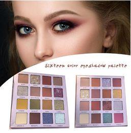 Kit de esmalte on-line-Beleza vitrificada Matte Sombra Pallete 16 pérola cores Glitter Eyeshadow Makeup Kit Maquiagem Pallete Professional Sombras