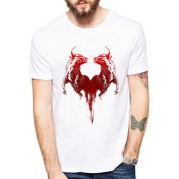 Toros de manos online-Moda Pintado a mano camiseta con estampado animal Bulls camiseta cara a cara Camisa de verano Cool Men Marca de moda Camisa cómoda Tops