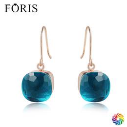 Новая цена серьги конструкции онлайн-FORIS 18 Colors New Design  Jewelry Rose Gold Crystal Earrings For Women Christmas Gift Best Price PE002
