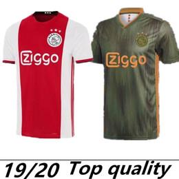 2019 marca de uniformes de futbol Ajax Home 2019 Nueva camiseta de fútbol Jersey 19/20 Camiseta de fútbol casa roja TADIC CRUIJFF DOLBERG NOURI uniforme de fútbol Personalizado En venta marca de uniformes de futbol baratos