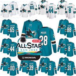 2019 All Star Patch San Jose Sharks 28 Timo Meier 44 Marc-Edouard Vlasic 31  Martin Jones 48 Tomas Hertl 39 Logan Couture Hockey Jersey bdbb25ad6