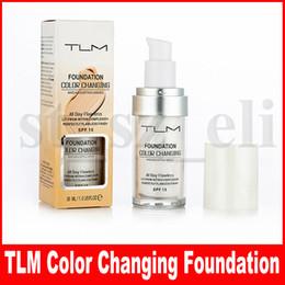 Bases hidratantes online-TLM Flawless Color Changing Foundation Color de tono de piel cálido Base de maquillaje facial Desnudo facial Hidratante Líquido Cubierta Corrector
