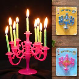 Articoli di festa di compleanno dei capretti online-Fashion New Plastic Birthday Party Candelabro elicoidale Candele colorate Set Bambini Adulti Moda Nuovi articoli per la casa