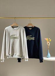 militärische grüne fleecejacke Rabatt 19FW Neue luxuriöse Marken-Design Krokodile embroiderd Brushed Pullover Pullover Männer Frauen Outdoor-Street Sweatshirt-Jacken