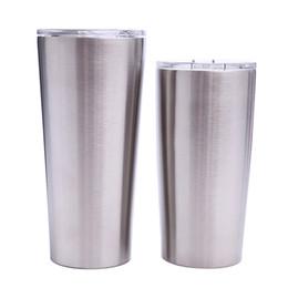 2019 garrafas de água mochila 24 oz 20 oz tumblers Caneca De Aço Inoxidável Parede Dupla de Vácuo Isolado Copos De Cerveja Drinkware Canecas de Vácuo com tampas claras MMA1906