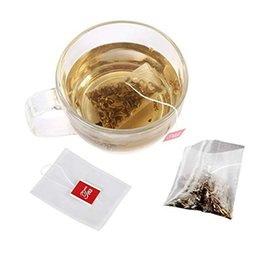 Deutschland 1000 teile / los 5 * 6 cm leere Nylon Teebeutel Mit String Heat Seal Filterpapier Herb Lose Einweg Teebeutel infuser Kaffeesieb Versorgung