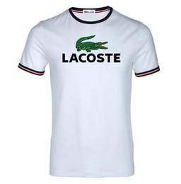 147f915f24 T-shirt en coton pur des hommes français de crocodile de marque française,  polo d'été imprimé, T-shirt des hommes s-3xl 2018 chemises de marque de  crocodile ...