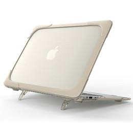 capa de capa de silicone macbook pro Desconto Suporte novo à prova de choque Hard Case dobrável para MacBook Air Pro Retina 11,6 12 13,3 15.4inch Para Macbook 13,3 polegadas Touch Bar Tampa