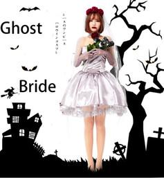 Halloween Adult Vampire Cosplay Kleidung Blumen Verheiratet Rose Silver Ghost Bride Kreuz Kleid weiblich Cosplay Kleidung von Fabrikanten
