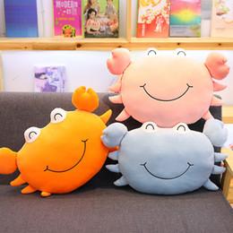 2019 cojín kawaii Simulación Kawaii cangrejo juguetes de peluche para niños niños relleno suave almohada cojín lindo animal marino juguetes 45 cm / 18 pulgadas C6306 cojín kawaii baratos