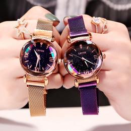 Luxe pour Mode Horloges Élégant Magneet Gesp Vibrato Paars Dameshorloge 2019 Nouveau cadeau Romeinse Cijfer Gift Klok ? partir de fabricateur