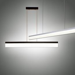 2019 barra de luz led lineal Lámpara colgante lineal Oficina de luz LED Minimumism Moderno colgante de la barra de Droplight Para Office Estudio de Decoración