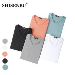 chemises 3xl Promotion Coton flammé coton Sweat Proof Undershirt V cou 2019 été Slim Fit sous-vêtements à manches courtes Marque maillot de gym M-3XL