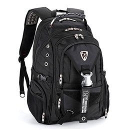Bolsas para portátiles para mujeres 17 online-Swiss Gear Laptop Backpack, una mochila impermeable para la escuela de trabajo, se adapta a un portátil de 16 pulgadas para hombres, mujeres y 4 colores