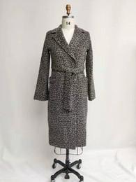 Argentina Leopardo de las mujeres abrigo largo manga larga abrigo de lana outwear outwear mujer invierno otoño gabardinas más el tamaño 18-047 cheap x 18 Suministro