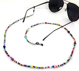 nueva cadena de cuello chica Rebajas Nueva manera de las mujeres coloridas cadenas de cuentas de gafas de chicas eyewears Gafas de sol Gafas de Cadena soporte del cable de cinta para el cuello de la cuerda