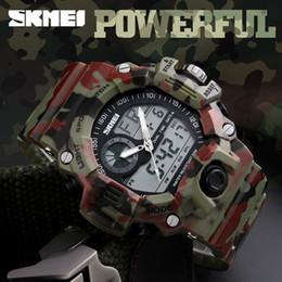 orologi tattici Sconti 6 Colori Outdoor Brand Reloje Hombre Style Digital Dual Shock Tempo Tattico Orologi Moda Unisex Orologi Sportivi CCA11476 20 pz
