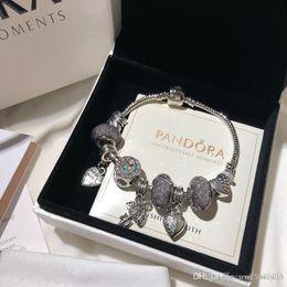 Pandora gioielli di design di lusso donne bracciali bracciale charm acciaio inox vite bracciale bracciali regalo Bracciale de donna scatola originale da