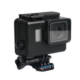 Acessórios gopro preto on-line-Underwater caixa estanque para GoPro Hero 6 5 7 Black Mergulho Capa protetora Monte Habitação para Go Pro 6 5 7 Acessório