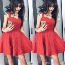 390bd2015 2019 Vestidos de cóctel de fiesta de tul rojo Vestidos cortos de fiesta de  baile Vestidos elegantes vestidos formales Vestidos de dama de honor  Abendkleider ...