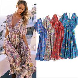 17f9d48a20b 2019 плюс женская одежда богемного стиля 2019 Летнее Платье Для Женщин  Богемный Стиль Женщины Макси Пром