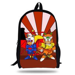 16-zoll samurai pizza katzen laptop rucksack für kinder schüler schultasche für kinder mädchen schule bookbags jugendliche jungen von Fabrikanten