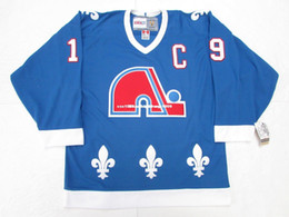 512865b7f47 Cheap custom JOE SAKIC QUEBEC NORDIQUES AWAY BLUE VINTAGE CCM HOCKEY JERSEY  stitch add any number any name Mens Hockey Jersey XS-6XL cheap quebec hockey  ...