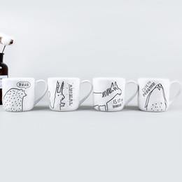 Canecas de cerâmica animal on-line-Copos De Água De Cerâmica branca Oculta Mundo Farm Animal Xícaras De Café Handmade Caneca com Alça de Alta Qualidade E Iexpensive Originalidade 8 mlA1