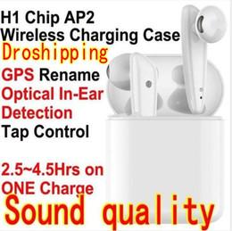melhores jogos de computadores Desconto chip de TWS H1 Generation 2 2 AP2 de carregamento sem fio Bluetooth 5.0 Fones de ouvido Sensor Earbuds GPS Rename aparecer W1 3.0 pk I9S i12 carro