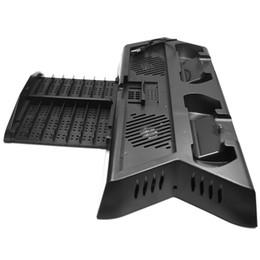 contrôleur de ventilateur Promotion Pour Ps4 Pro Slim support vertical du ventilateur de refroidissement Cooler avec double contrôleur de station de charge 3 Port Hub supplémentaire pour Playstation 4 Ps