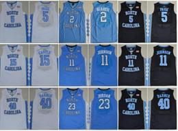 4447dd195d8 NCAA Basketball North Carolina Tar Heels Michael 5 Nassir Little Vince  Carter 32 Luke Maye Barnes 2019 UNC blue Black White College Jersey