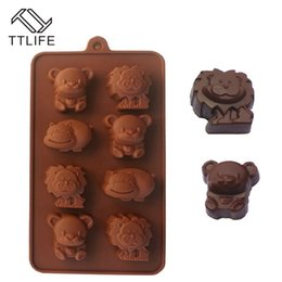 2019 schokoladentiere formen Aking Pastry Tools TTLIFE Cartoon Tierform Silikon Flüssige Form Schokoladenplätzchenform Fondant Gelee Süßwaren Backformen ... rabatt schokoladentiere formen