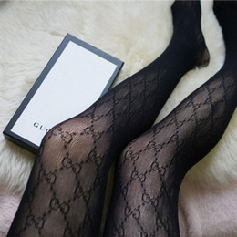 2019 modelo de ropa interior rosa Nuevo diseñador G Letter Life NewTights para mujer Sexy Lace Fashion Lady Socks Hollow Small Mesh Thin Women Stockings