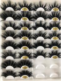 Canada 5D 25mm faux cils une paire de cils exagérés une épaisseur de 25 mm de vrais cheveux de vison 10 jeux Livraison gratuite Offre