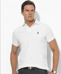 polos 5xl Rebajas 2019 calidad camiseta de algodón 100% polo hombres ralph hombres camisa de diseñador de los hombres de negocios polo camisa bordada solapa polo camisa Envío gratis
