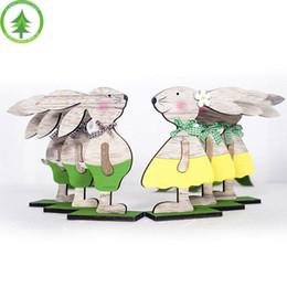 Photos paques en Ligne-En gros Lapin De Pâques Autocollant Chick Papier Accessoires Jouets Pâques Décoration Dessin Jouets Lapin Oeuf De Pâques Parti Photo Props