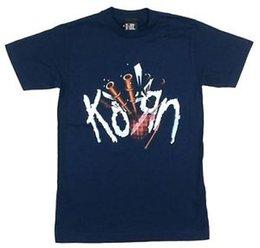 Blaue paspeltasche online-KORN Bag Pipes Bild Navy Blue T-Shirt Neue offizielle Band Merch 2000 GIANT NOS