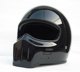 Xxl capacetes de bicicleta on-line-FPR full Face Motocicleta capacete Do Vintage para a bicicleta da sujeira Cafe racer casco legal personalizado capacete de ciclismo capacete de helicóptero cruiser cruzador de bicicleta