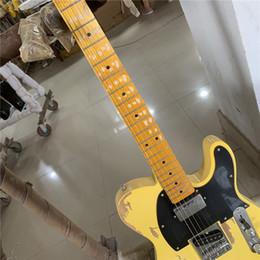 violão coreano Desconto corpo ASH hardware idade acabamento nitrolacquer frete grátis coreano fábrica profissional Handmade Relic 1962 FD TL guitarra elétrica de bronze selas
