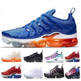 Menthes sportives en Ligne-2019 TN Plus Jeu Royal orange USA Tangerine à la menthe Grape Volt Hyper Violet formateurs Sport Sneaker Hommes femmes Designer chaussures de course