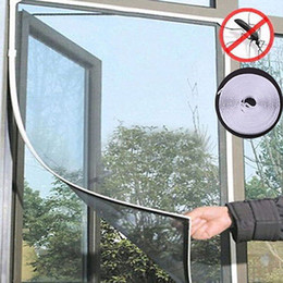 Portas anti mosquito on-line-Anti-Insect Fly Mosquito Mosquito Porta Janela Cortina Net Mesh Screen Protector Branco