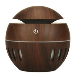 Argentina USB Grano de madera Aceites esenciales Difusor Ultrasónico Aroma Humidificador Aromaterapia Portátil Húmedo Mist Maker 7 colores LED Difusor cambiante Suministro