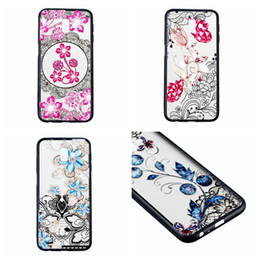 samsung galaxy core covers Promo Codes - For Galaxy (A7 A750 J4 J6 Plus A8 J8 J2 Core)2018 Lace Bling Diamond Hard PC+TPU Case Flower Floral Paisley Henna Rose Luxury Phone Covers