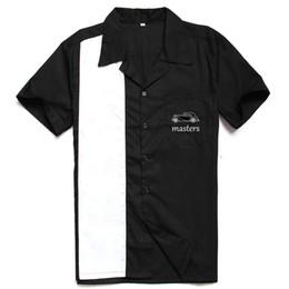 roupas vintage homens brancos pretos Desconto Camisa dos homens do Vintage Rock 40's Estilo Ocidental Roupas Preto Branco Padrão Mestres Bordados Hip Hop Partido Club camisas