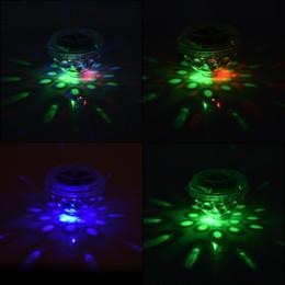 Canada Flottant LED Piscine Lumière Pond Paysage RVB Clignotant Clignotant Flotter Lumière Solaire Alimenté Lampe Pour La Maison Garden Party Décoration Offre